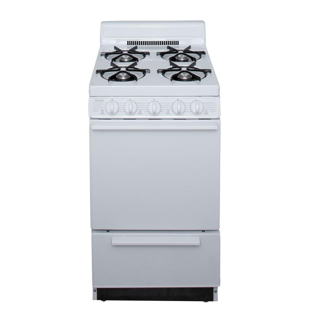 20 in. 2.42 cu. ft. Freestanding Battery Spark Ignition Gas Range