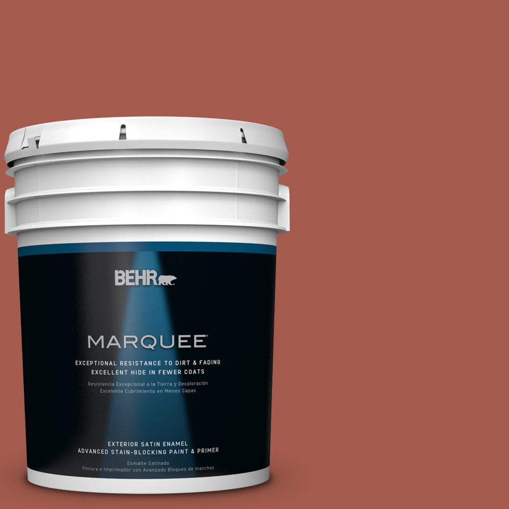 BEHR MARQUEE 5-gal. #PPU2-15 Cajun Red Satin Enamel Exterior Paint-945305 -