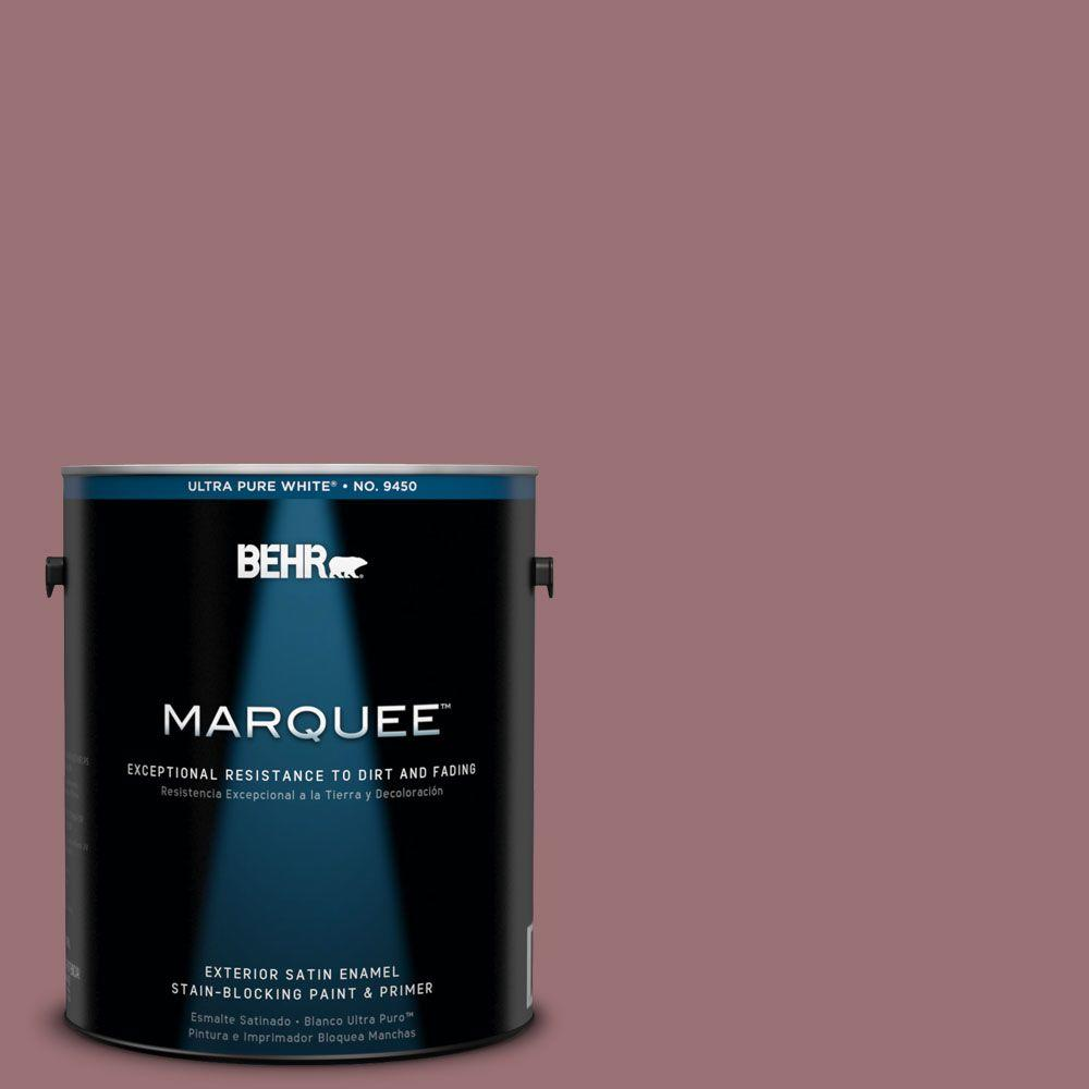 BEHR MARQUEE 1-gal. #QE-05 Regal Rose Satin Enamel Exterior Paint