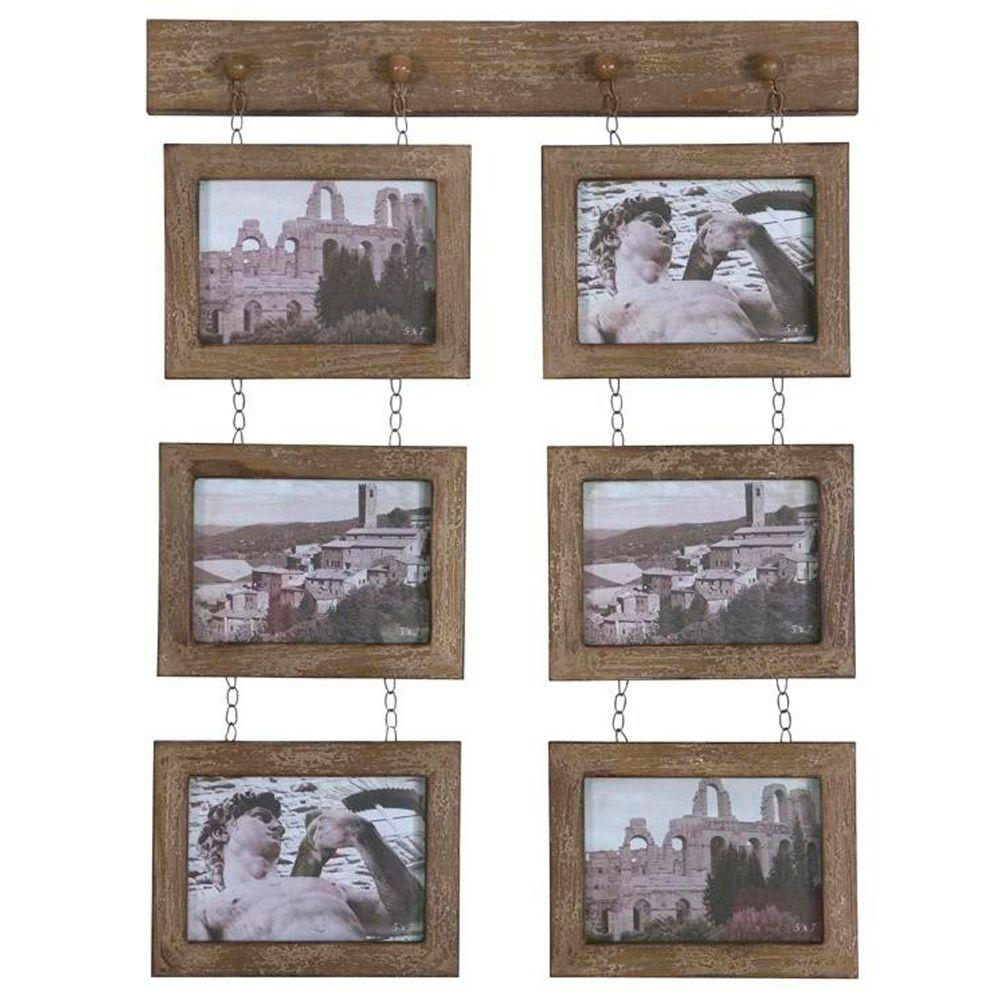 Home Decorators Collection Madeira 6-Opening 27 in. x 20 in. Tan Photo Frame-DISCONTINUED