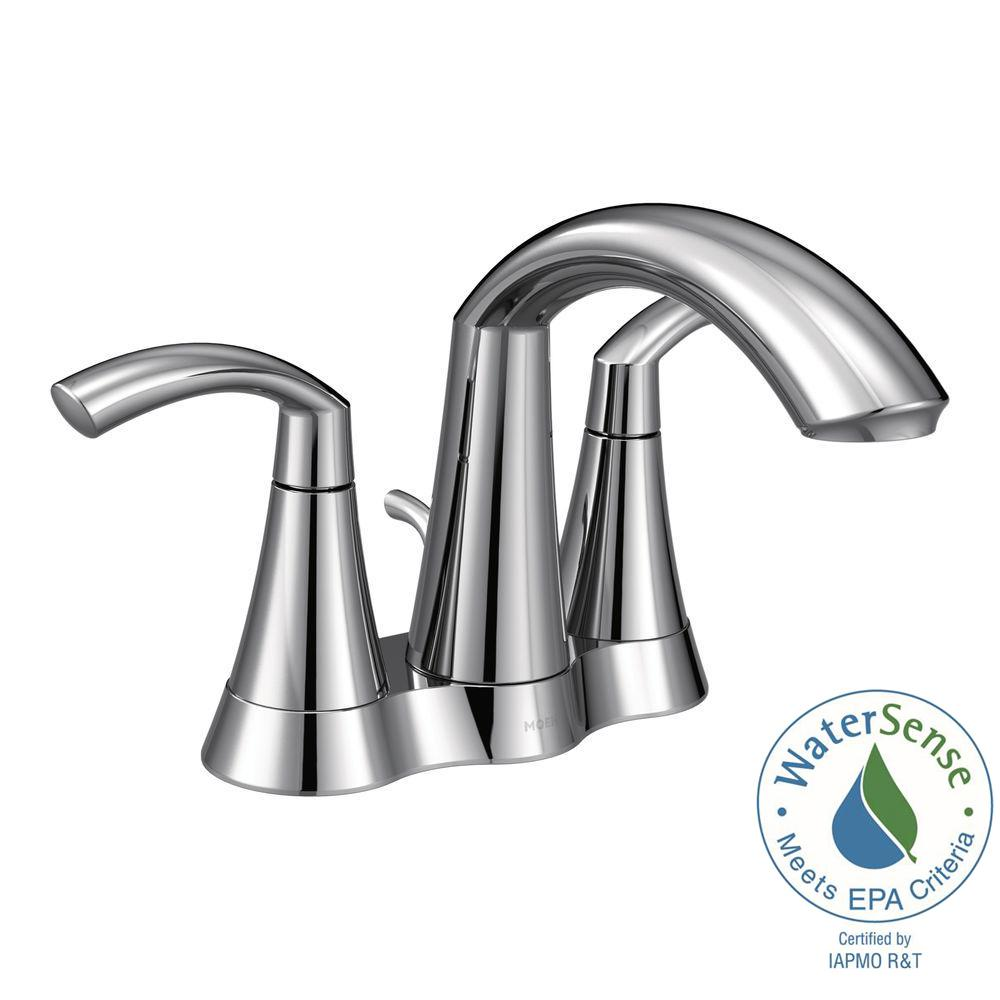 Glyde 4 in. Centerset 2-Handle Bathroom Faucet in Chrome