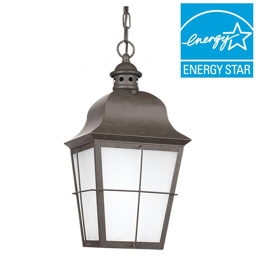 Chatham Oxidized Bronze 1-Light Outdoor Ceiling Mount Hanging Pendant