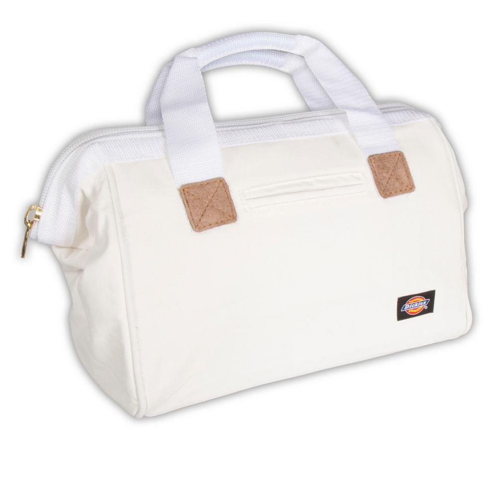 12 in. Soft Sided Construction Work Tool Bag, White