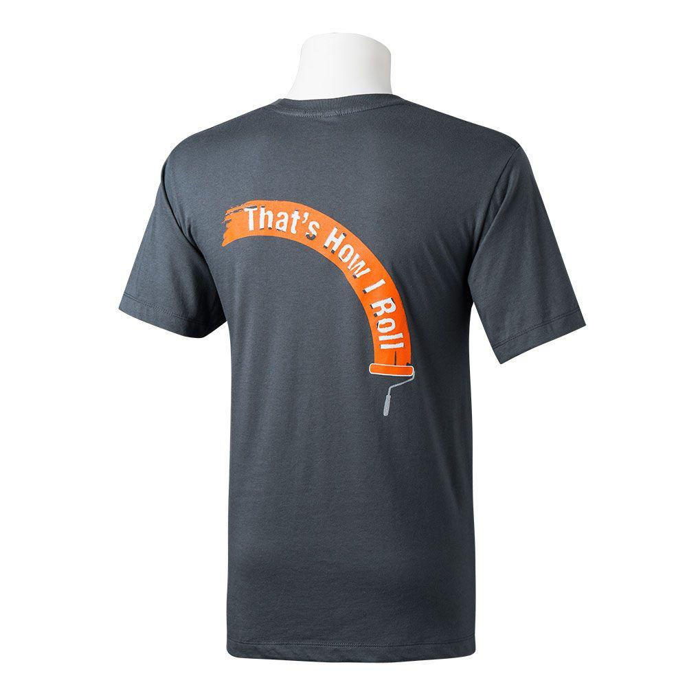 The Home Depot Men's Grey Large That's How I Roll T-Shirt