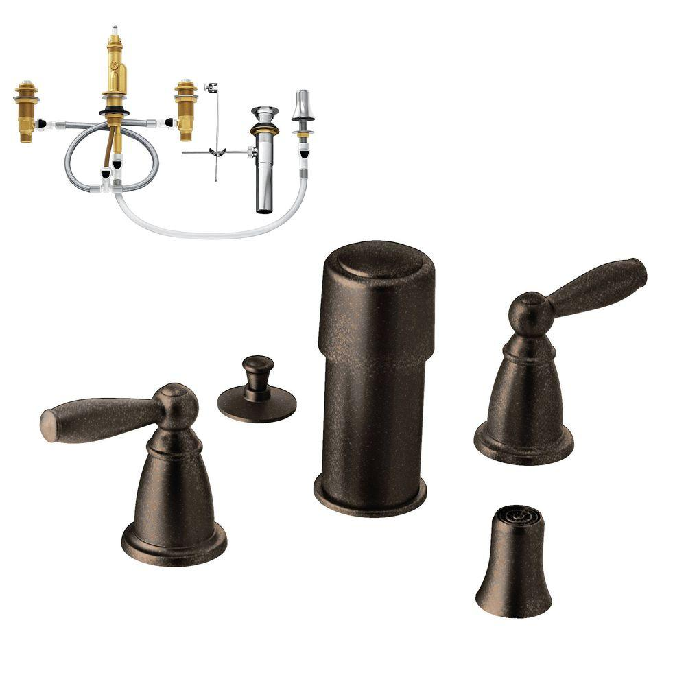 Brantford 2-Handle Bidet Faucet Trim Kit with Valve in Oil Rubbed