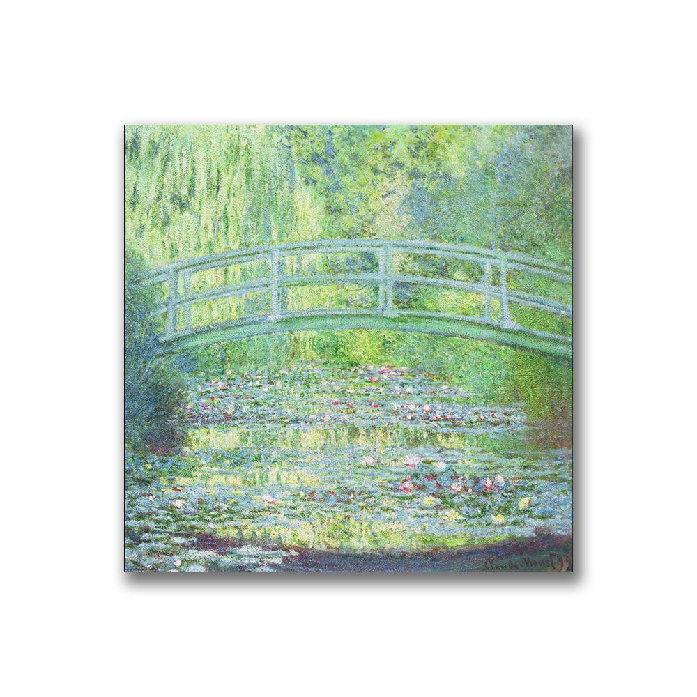 14 in. x 14 in. Waterlily Pond-the Bridge II Canvas Art
