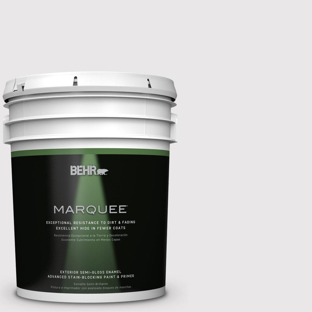 BEHR MARQUEE 5-gal. #PR-W3 Melodic White Semi-Gloss Enamel Exterior Paint-545005
