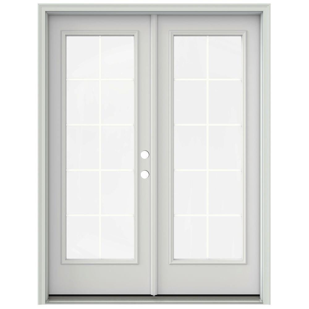 prehung interior french doors home depot jeld wen 60 in x 80 in primed prehung left inswing 27394