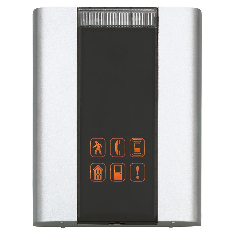 6 Tune Battery Powered Door Chime Quiet Alert with Flashing Indicator