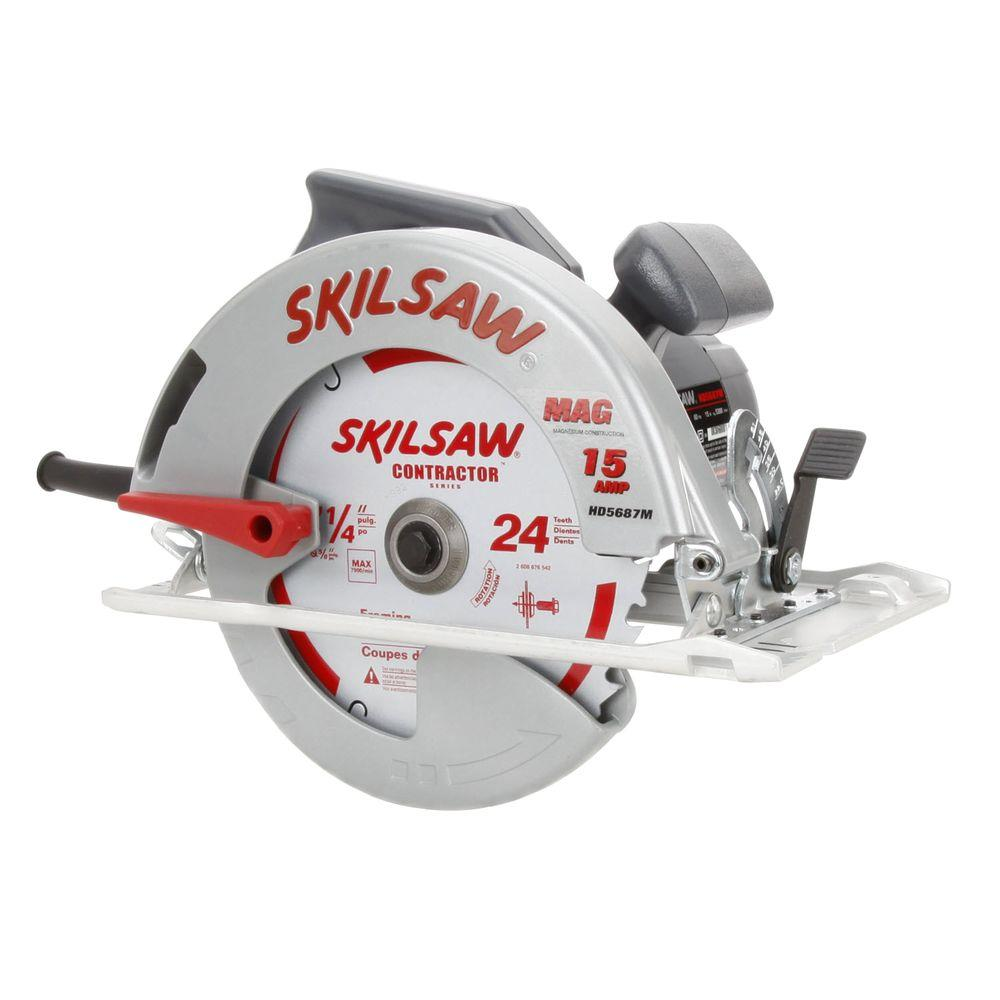 Skil 15 Amp Corded Electric 7-1/4 in. Magnesium Circular Saw with 24-Tooth Carbide Blade