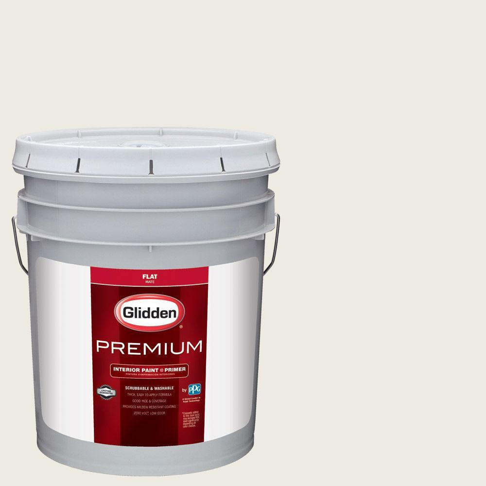 5 gal. #HDGCN03U Wedding White Flat Interior Paint with Primer