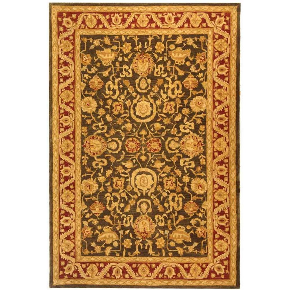 Anatolia Charcoal/Red 8 ft. x 10 ft. Area Rug