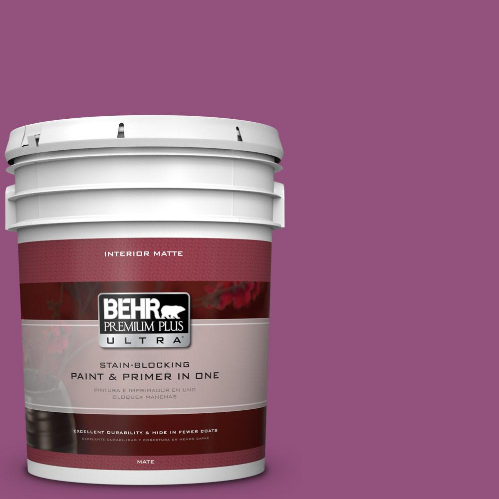 BEHR Premium Plus Ultra 5 gal. #P110-7 XOXO Matte Interior Paint-175305