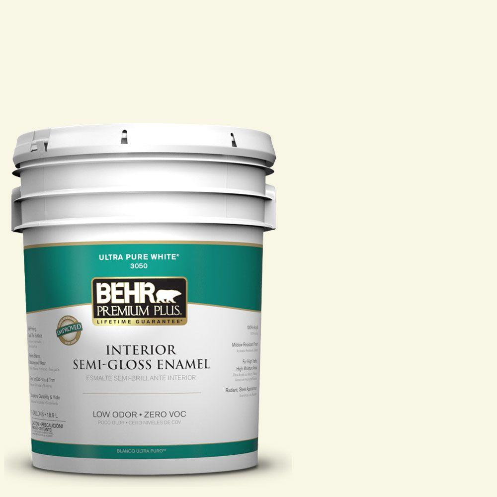 5-gal. #W-B-410 Star Shine Zero VOC Semi-Gloss Enamel Interior Paint