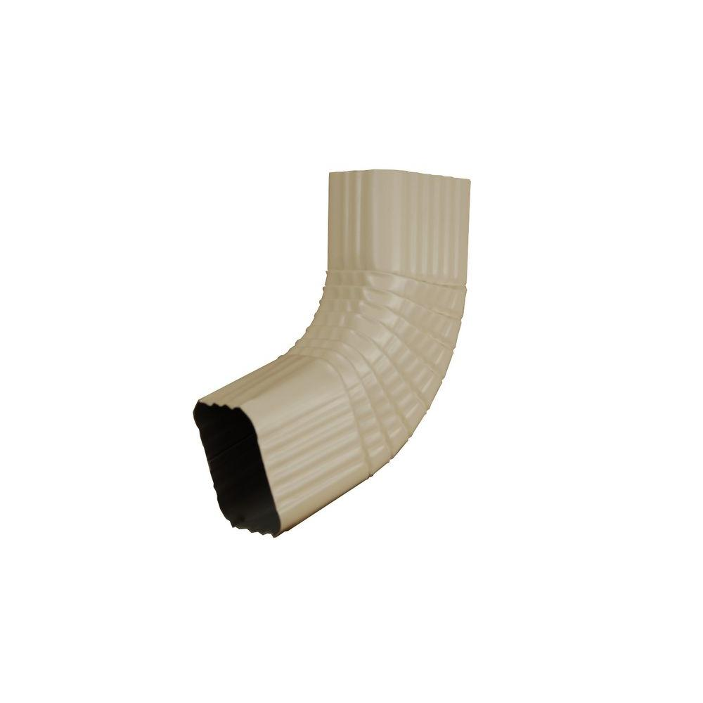 3 in. x 4 in. Almond Aluminum Downspout B Elbow