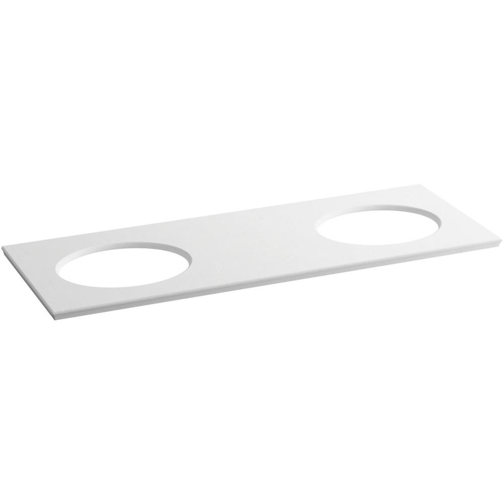 KOHLER Solid/Expressions 61.625 in. Solid Surface Vanity Top in White