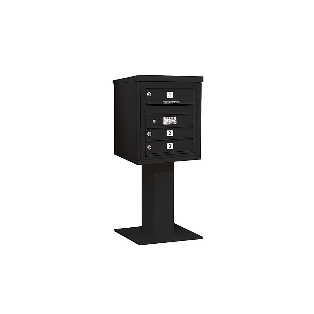 3400 Series 48-1/8 in. 5 Door High Unit Black 4C Pedestal