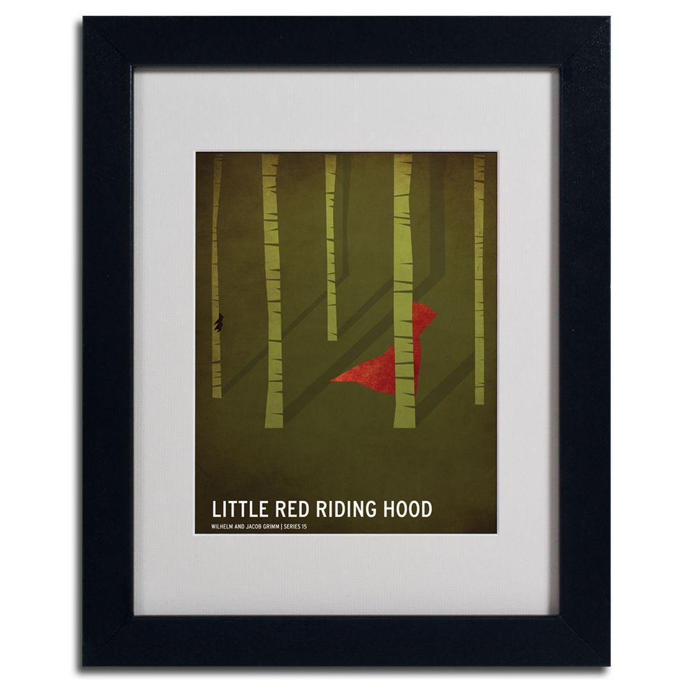 "11 in. x 14 in. ""Red Riding Hood"" Matted Framed Art"