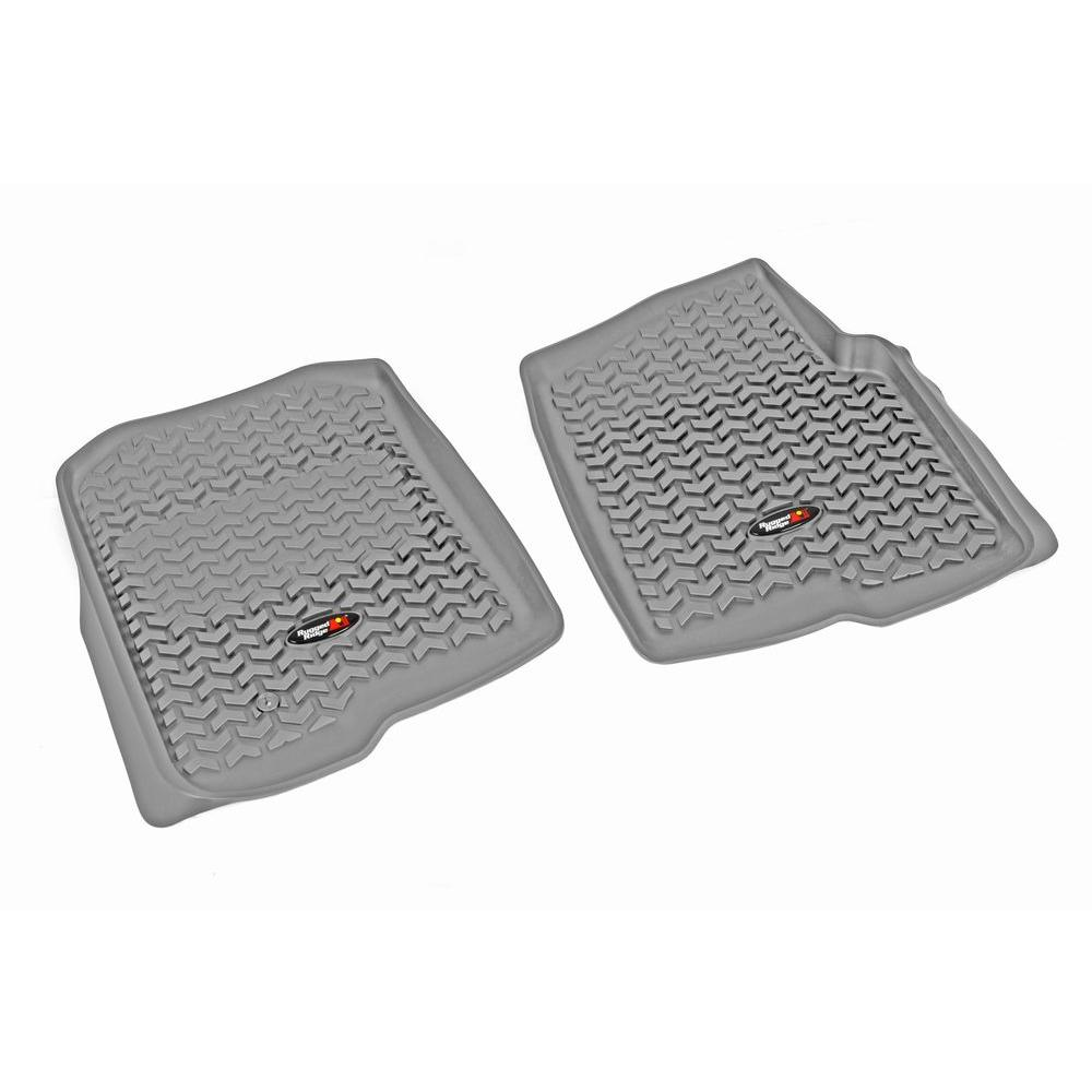 Rugged Ridge Floor Liner Front Pair Gray 2004-2008 Ford F150 Super Crew
