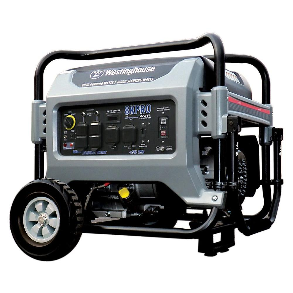 Westinghouse 8,000 Watt Commercial/Residential Electric Start/Remote Start Portable Generator