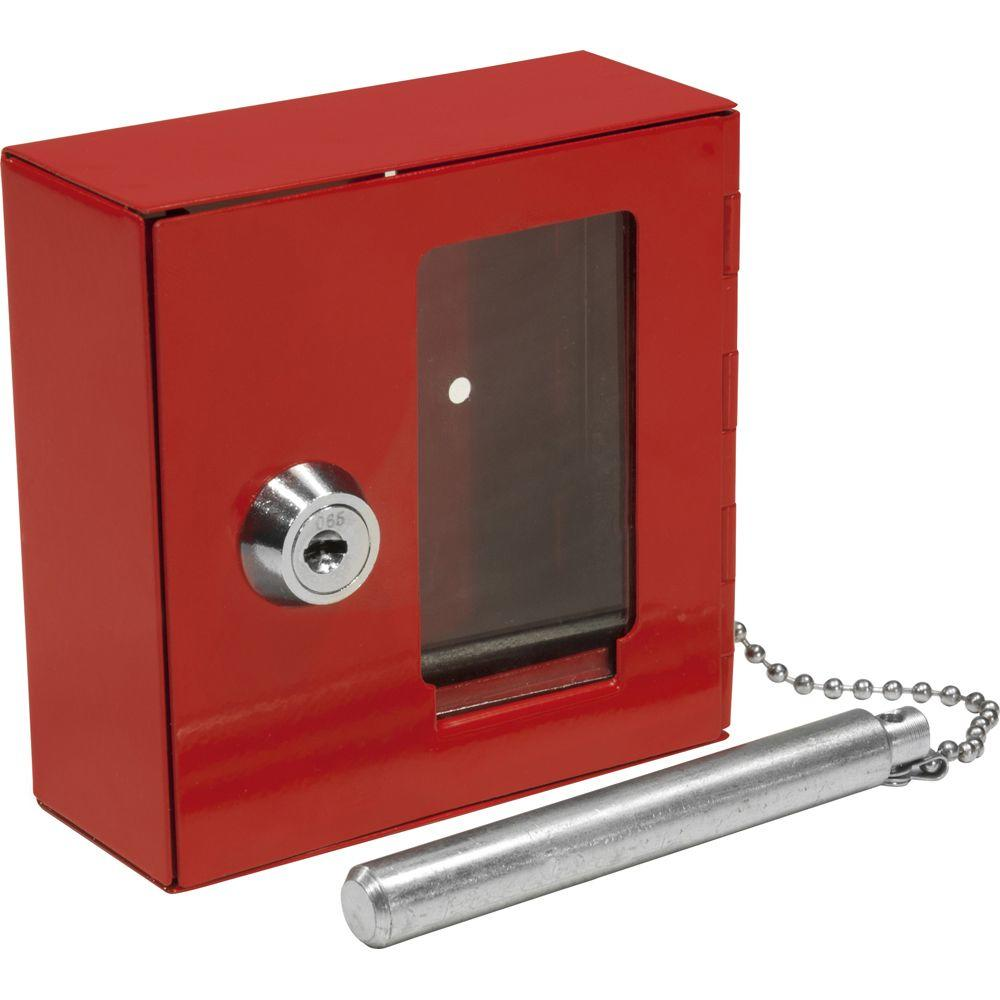 BARSKA Small Breakable Emergency Key Box Safe with Attached Hammer-AX11838 -
