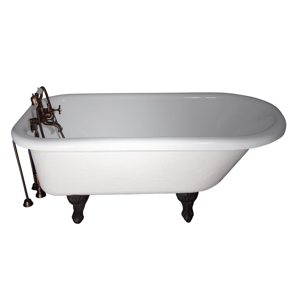 Barclay Products 5.6 ft. Acrylic Ball and Claw Feet Slipper Tub