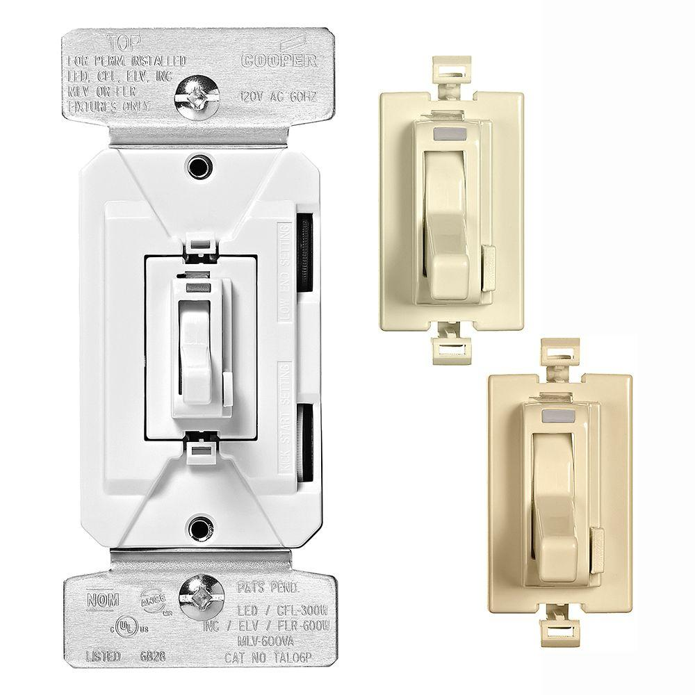 AL Series 300-Watt All Load 3-Way and Single Pole Toggle Dimmer