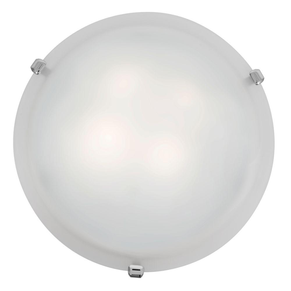 Access Lighting Mona 2-Light Chrome Flushmount with White Glass Shade