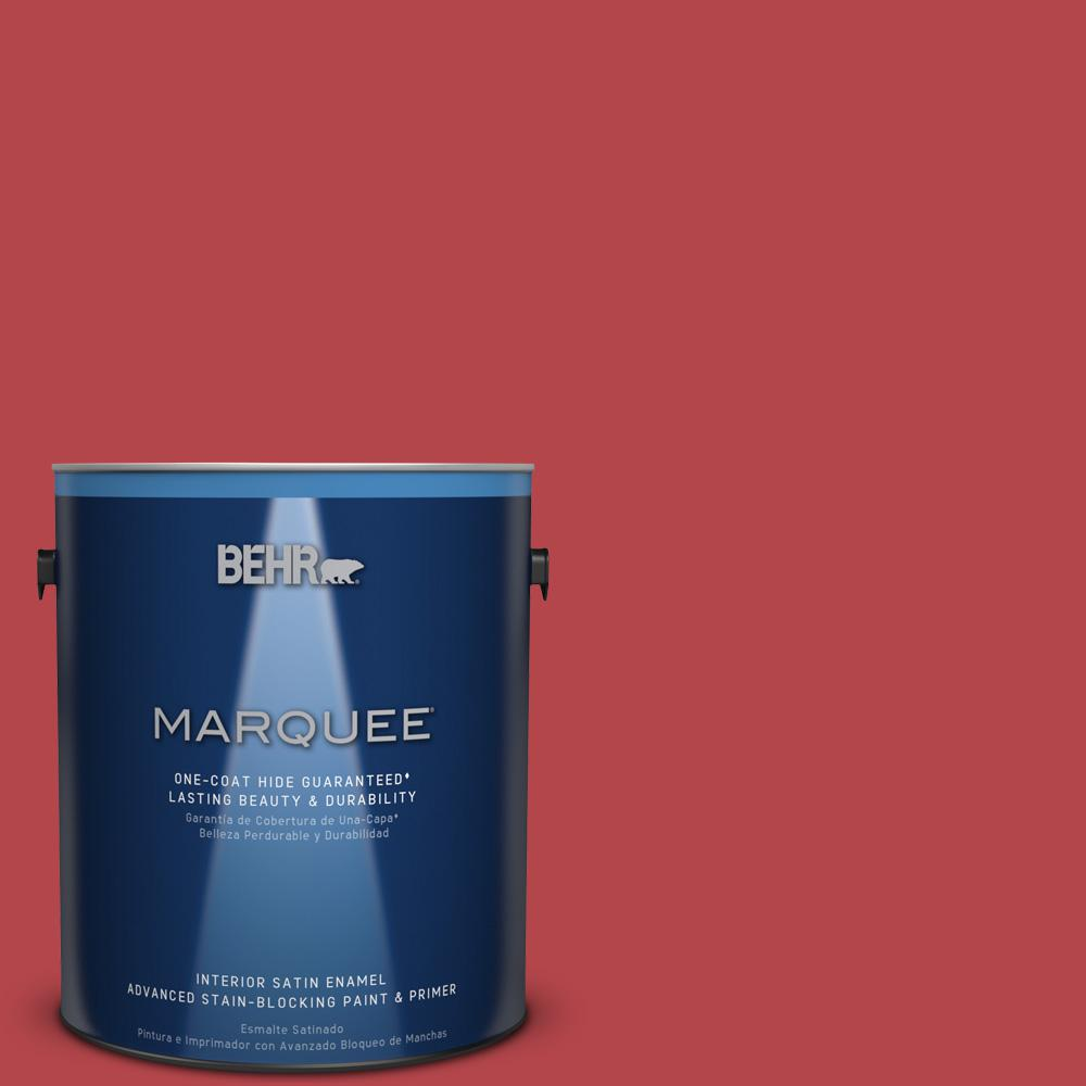 1 gal. #HDC-SM14-10 Intrigue Red Satin Enamel Interior Paint