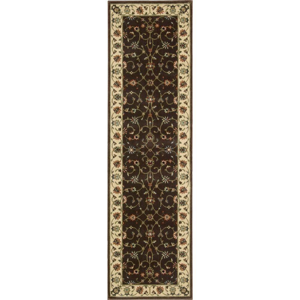 Nourison Persian Arts Chocolate 2 ft. 3 in. x 12 ft. Rug Runner