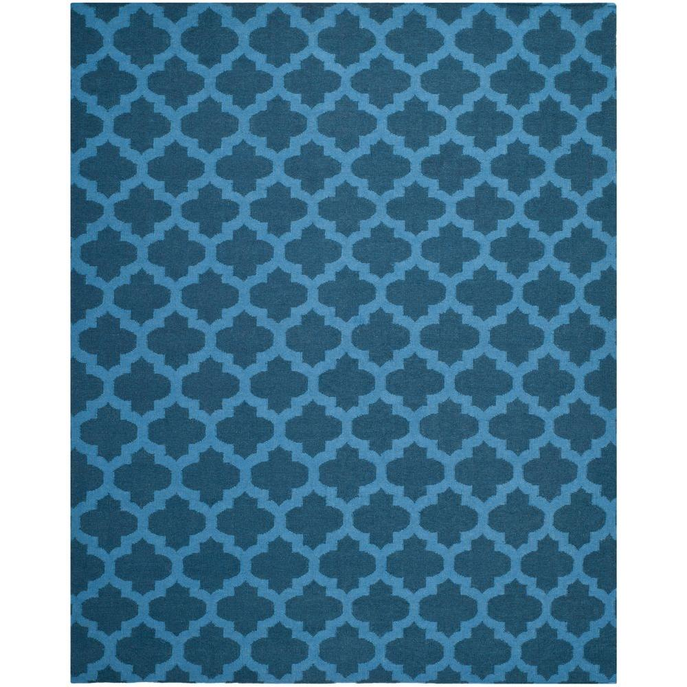 Dhurries Ink 8 ft. x 10 ft. Area Rug