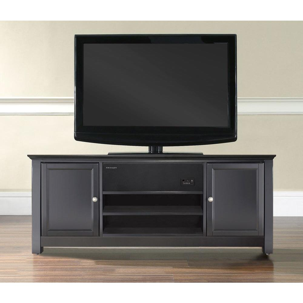 Crosley AroundSound Low Profile TV Stand in Black-KF1004ASBK - The Home