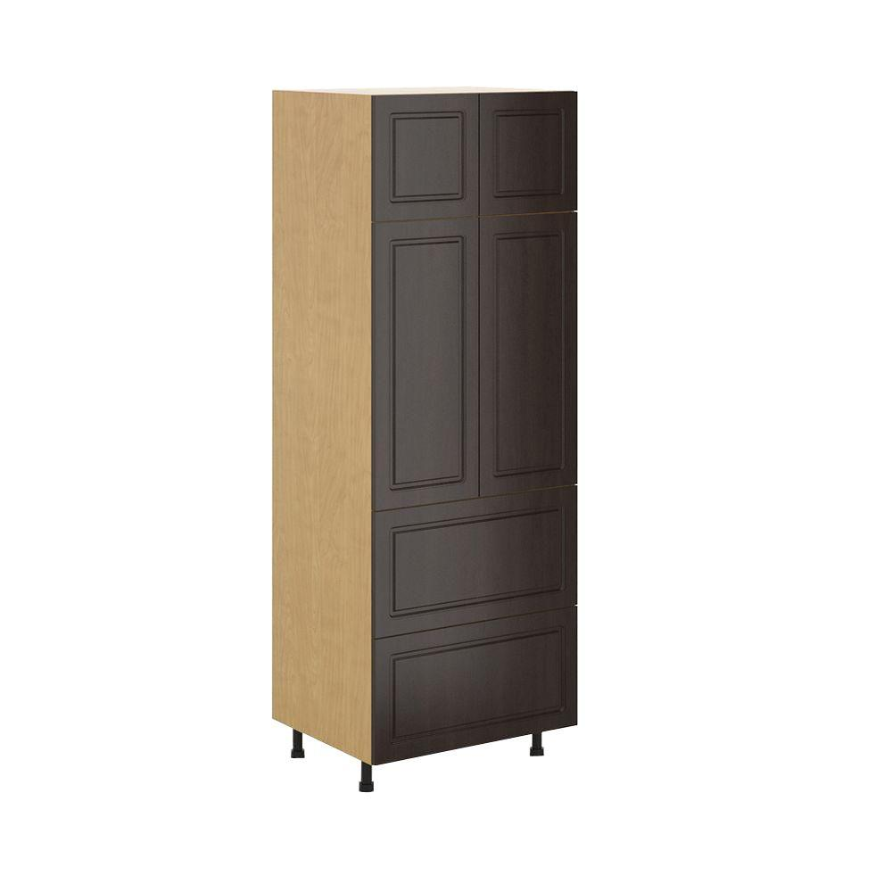Fabritec Ready to Assemble 30x83.5x24.5 in. Bern 2-Drawer Pantry Cabinet in