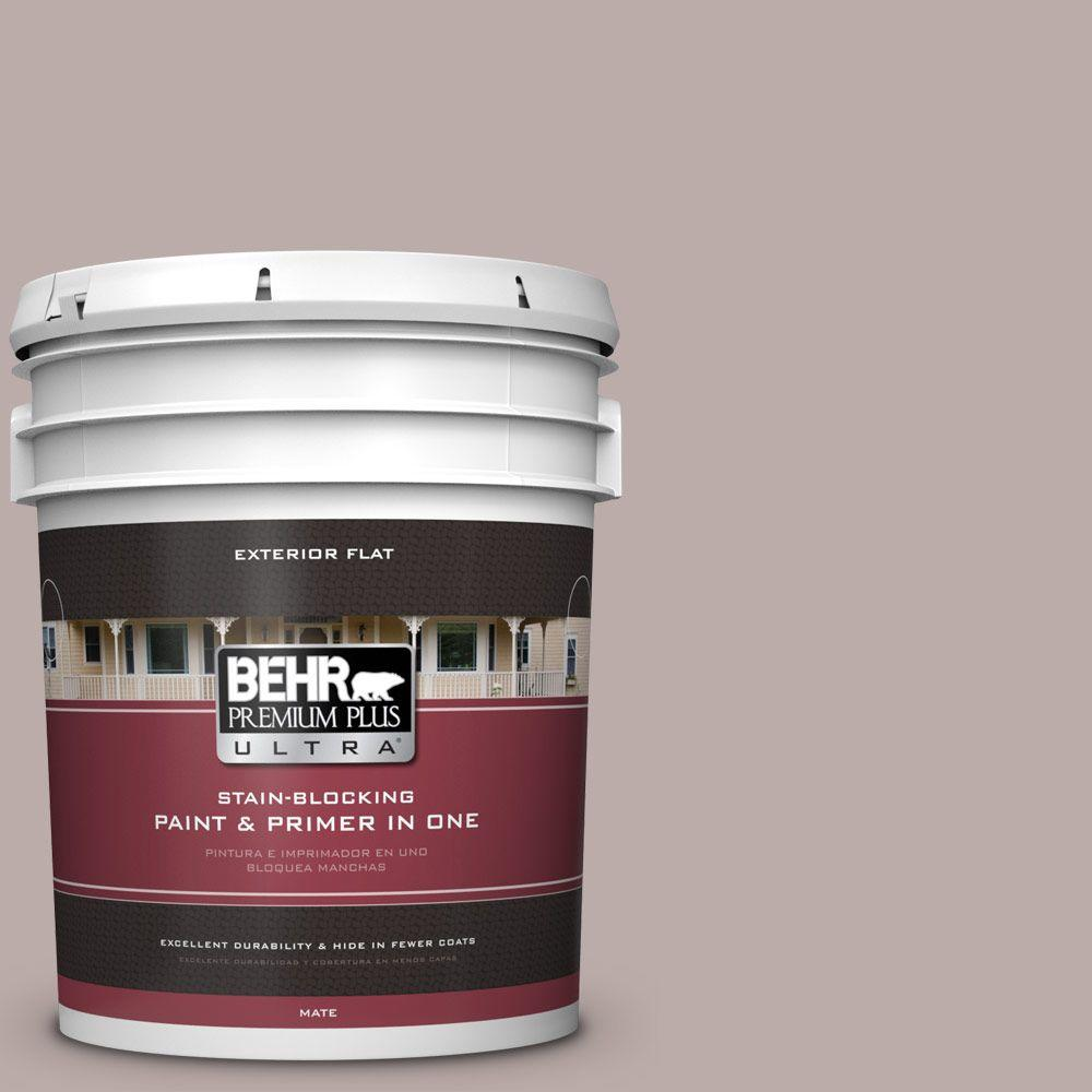 5-gal. #730B-4 Winter Cocoa Flat Exterior Paint