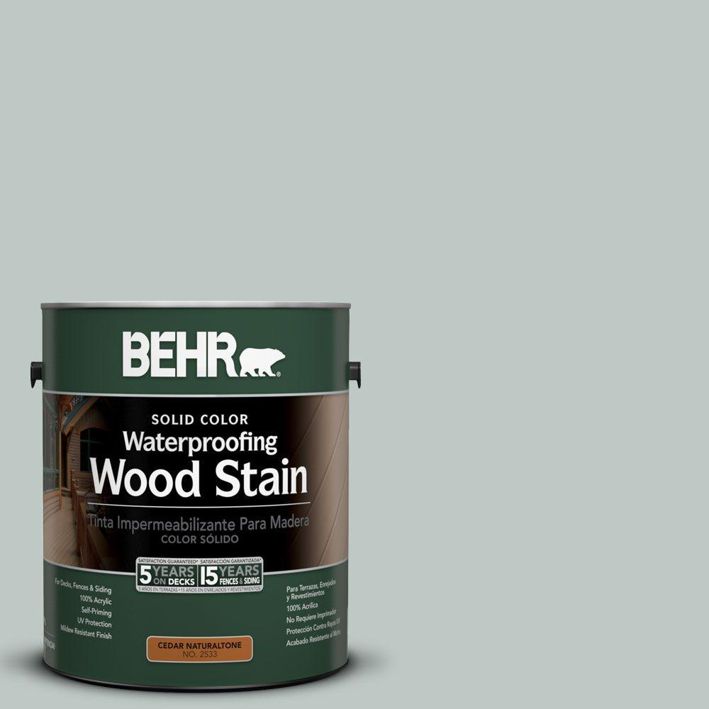 BEHR 1-Gal. #SC-365 Cape Cod Gray Solid Color Waterproofing Wood Stain-21101