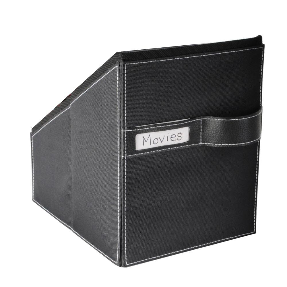 Media Living 36 Clear Sleeves for 72 Discs with Black Leather