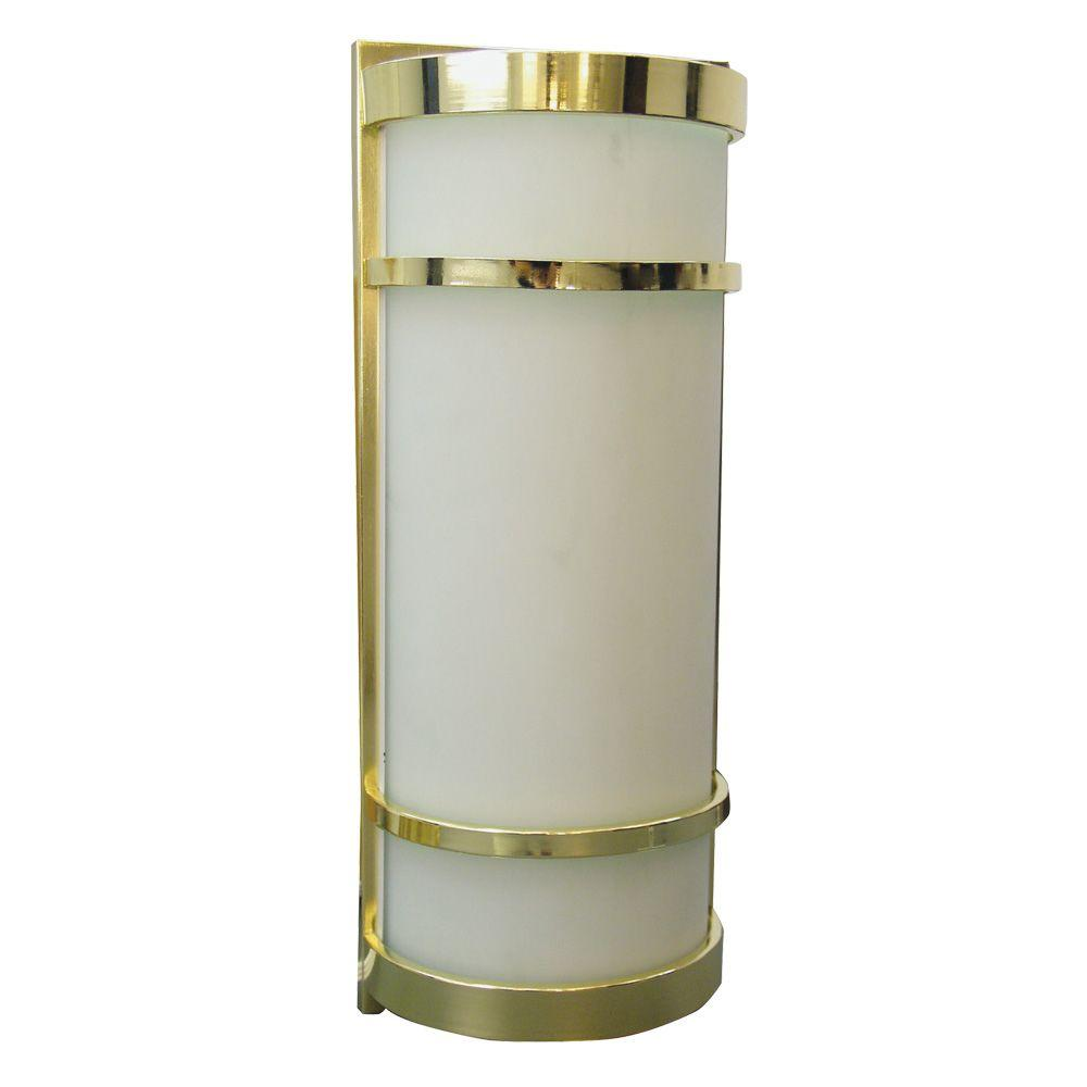 American Fluorescent Brio Collection 1-Light Polished Brass Sconce