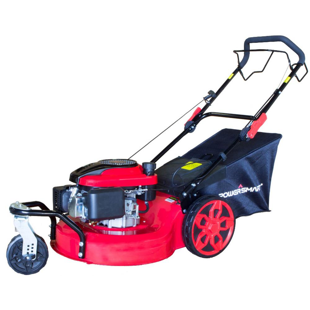 20 in. 3-in-1 196cc Gas Self Propelled Walk Behind Lawn Mower