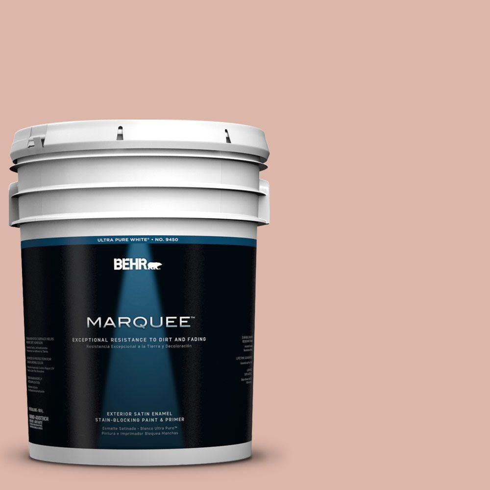 BEHR MARQUEE 5-gal. #220E-3 Melted Ice Cream Satin Enamel Exterior Paint-945405