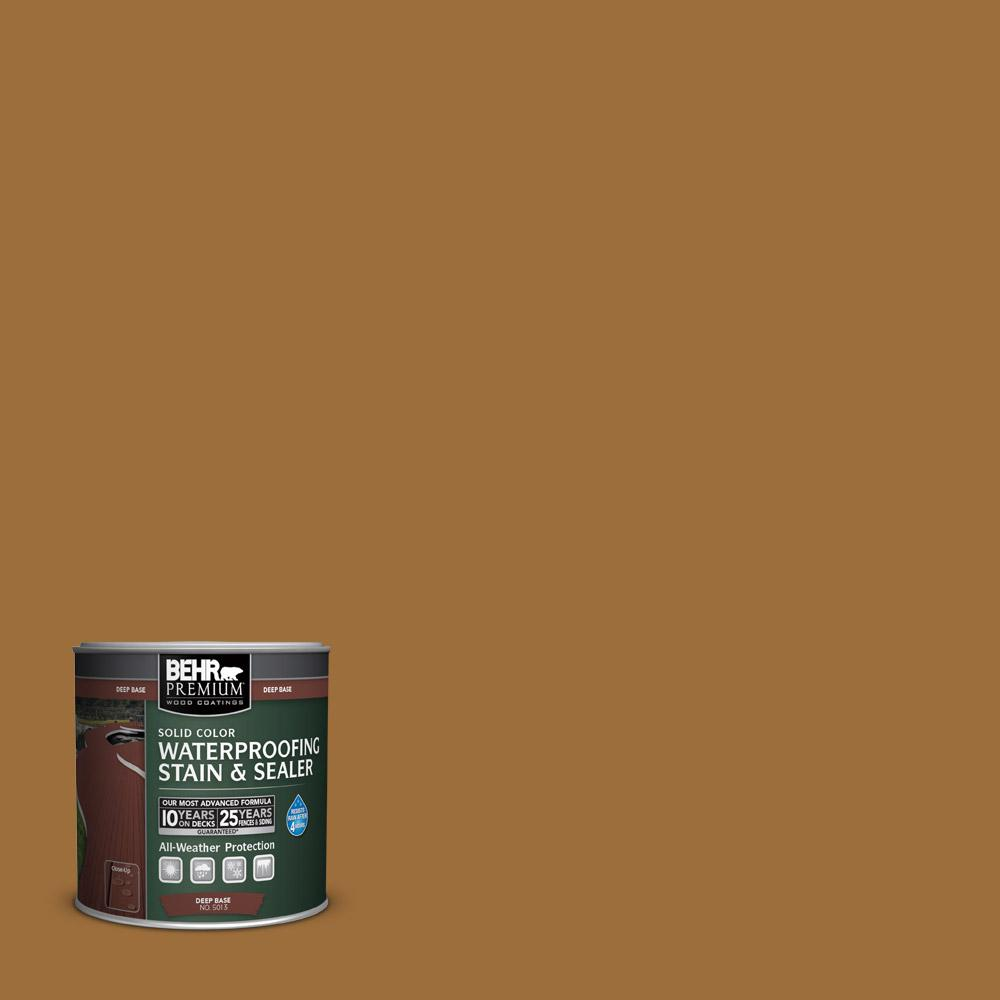8 oz. #SC146 Cedar Solid Color Waterproofing Stain and Sealer Sample