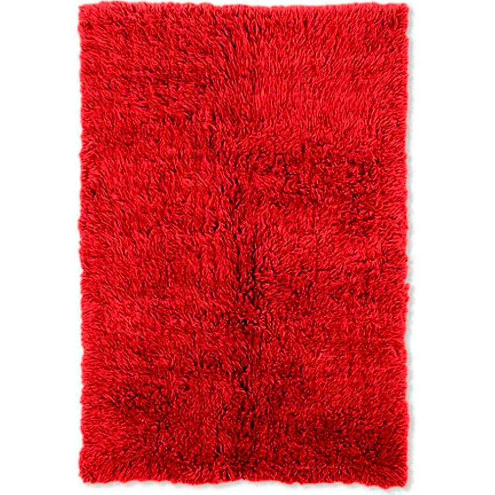 Linon Home Decor New Flokati Red 10 ft. x 16 ft. Area Rug