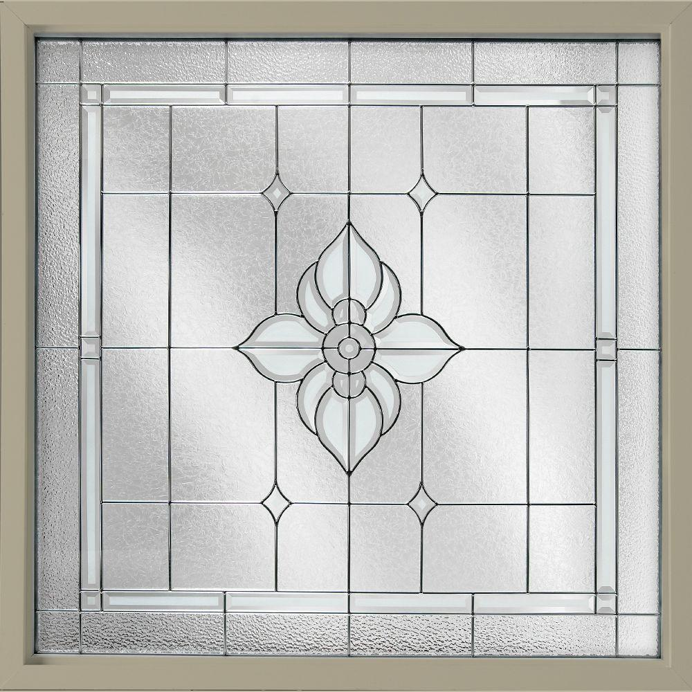 47.5 in. x 47.5 in. Decorative Glass Fixed Vinyl Window -