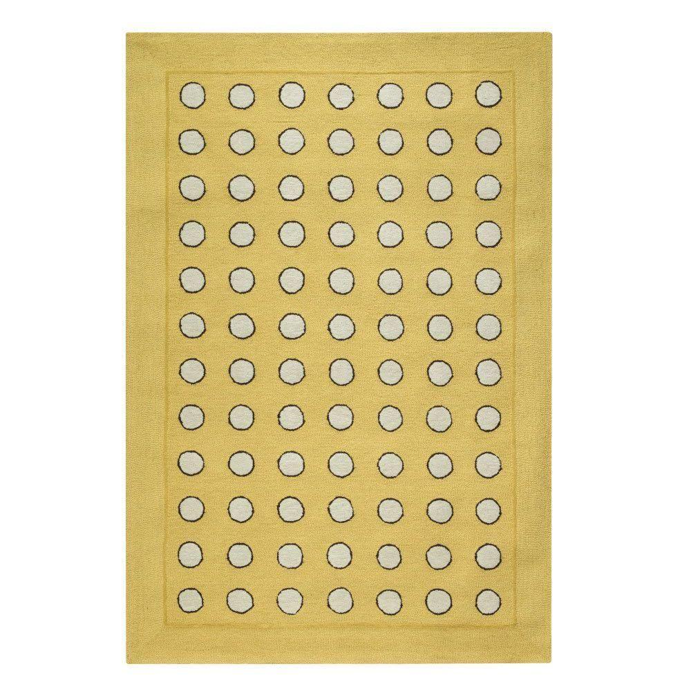 Home Decorators Collection Dottie Yellow 7 ft. 6 in. x 9 ft. 6 in. Area Rug