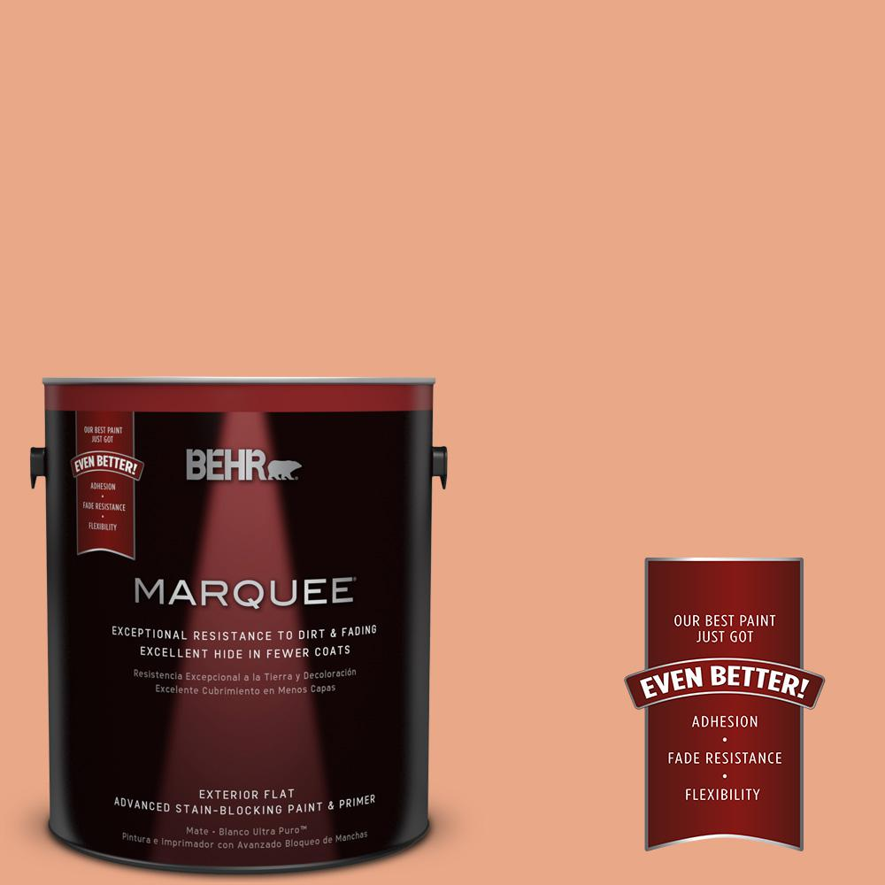 BEHR MARQUEE 1-gal. #240D-4 Ceramic Glaze Flat Exterior Paint