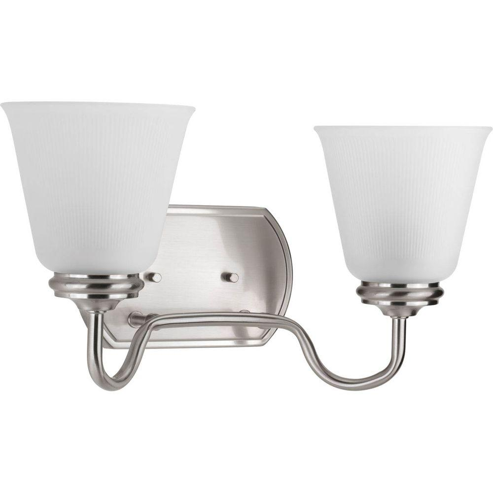 Keats Collection 2-Light Brushed Nickel Vanity Light