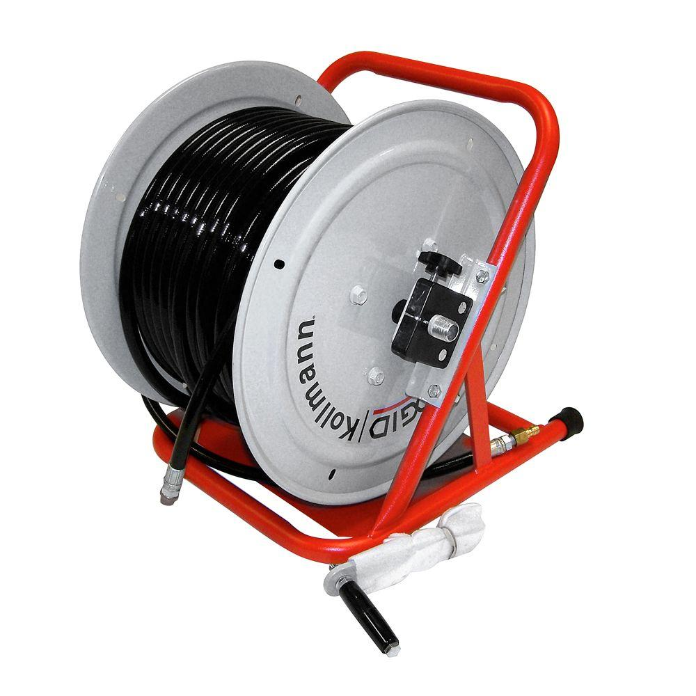 RIDGID H-38 WH Hose Reel with 200 ft. x 3/8 in. ID Hose