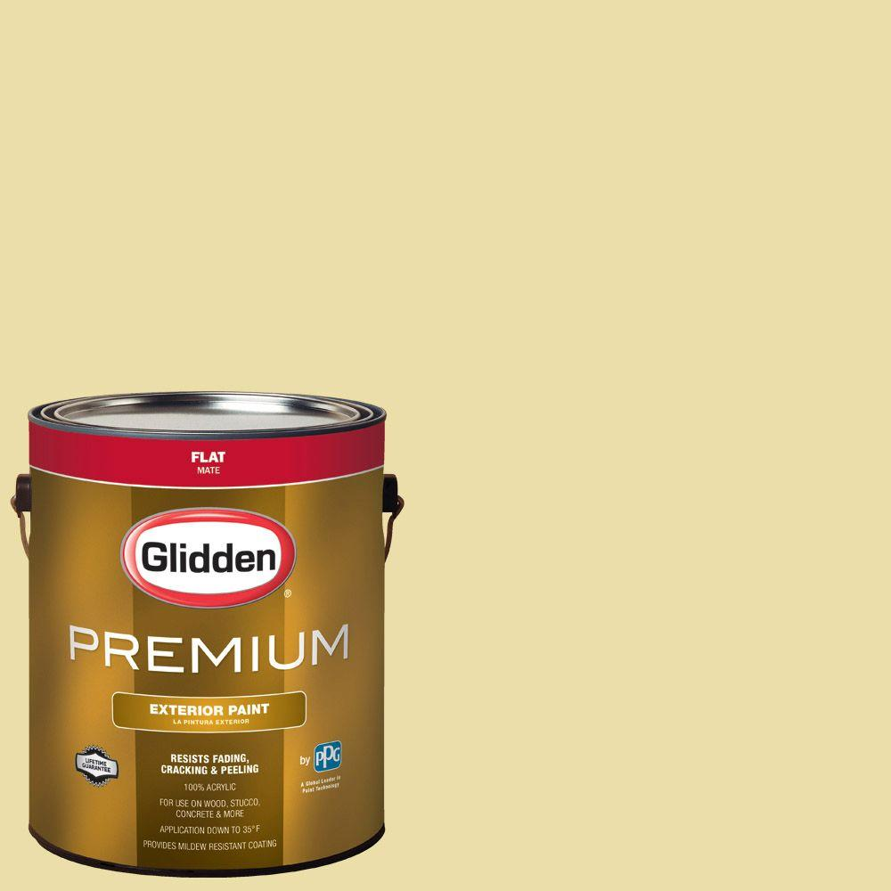 Glidden Premium 1-gal. #HDGY59 Candle Glow Flat Latex Exterior Paint