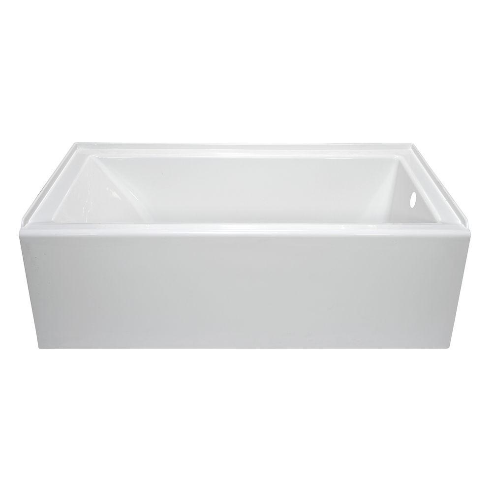 null Lyons Industries Linear 5 ft. Right Hand Drain Soaking Bathtub in White