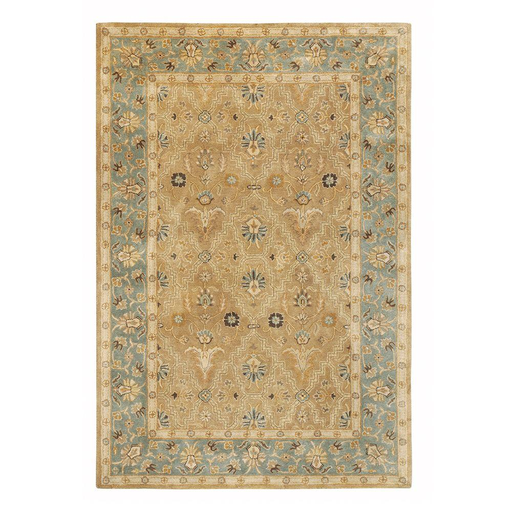 Home Decorators Collection Menton Gold and Blue 3 ft. x 5