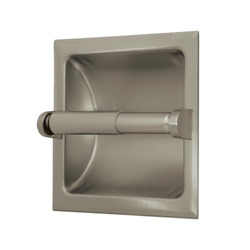 In Wall Toilet Paper Holder gatco recessed toilet paper holder in satin nickel-780 - the home